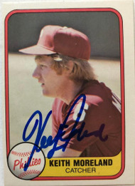 Keith Moreland Autographed 1981 Fleer #13