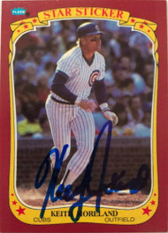 Keith Moreland Autographed 1986 Fleer Star Stickers #78