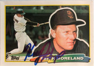Keith Moreland Autographed 1988 Topps Big #207