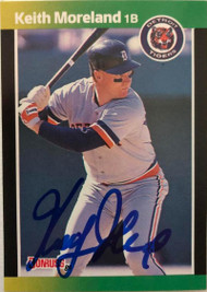 Keith Moreland Autographed 1989 Donruss Baseball's Best #203