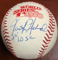 Keith Moreland Autographed 1980 World Series Baseball 1980 W.S.C.