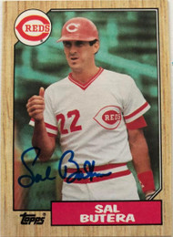 SOLD 5412 Sal Butera Autographed 1987 Topps #358