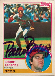 Bruce Berenyi Autographed 1983 Topps #139
