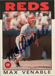 Max Venable Autographed 1986 Topps #428