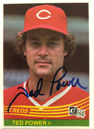 Ted Power Autographed 1984 Donruss #447