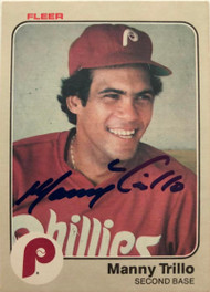 Manny Trillo Autographed 1983 Fleer #174