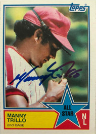 Manny Trillo Autographed 1983 Topps #398