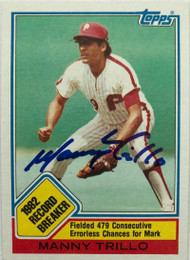 Manny Trillo Autographed 1983 Topps #5