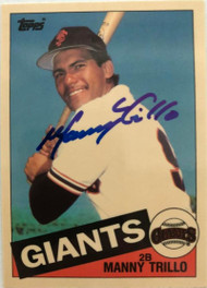 Manny Trillo Autographed 1985 Topps Tiffany #310