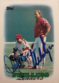 Lance Parrish & Mike Ryan Dual Autographed 1988 Topps #669