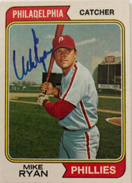 Mike Ryan Autographed 1974 Topps #564