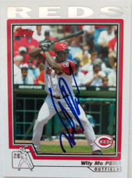Wily Mo Pena Autographed 2004 Topps #625