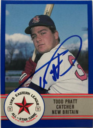 Todd Pratt Autographed 1988 Eastern League All-Stars Pro Cards #22