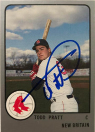 Todd Pratt Autographed 1988 New Britain Red Sox Pro Cards #906