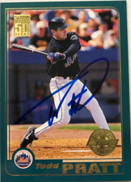 Todd Pratt Autographed 2001 Topps Home Team Advantage #23