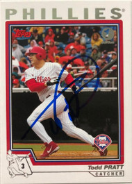 Todd Pratt Autographed 2004 Topps First Edition #618