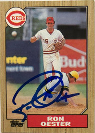 Ron Oester Autographed 1987 Topps #172