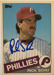 Rick Schu Autographed 1985 Topps Traded Tiffany #104T