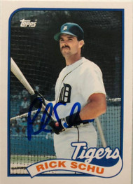 Rick Schu Autographed 1989 Topps Traded #112T