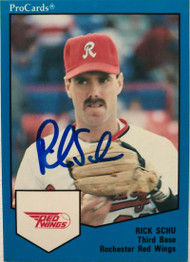 Rick Schu Autographed 1989 Rochester Red Wings Pro Cards #1642