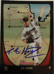 JA Happ Autographed 2011 Bowman International #140