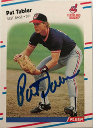 Pat Tabler Autographed 1988 Fleer #618