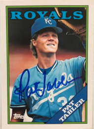 Pat Tabler Autographed 1988 Topps Traded #118T