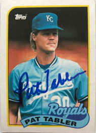 Pat Tabler Autographed 1989 Topps #56