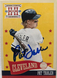 Pat Tabler Autographed 2013 Hometown Heroes #71
