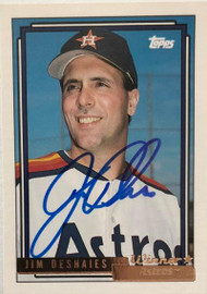 Jim Deshaies Autographed 1992 Topps Gold Winner #415