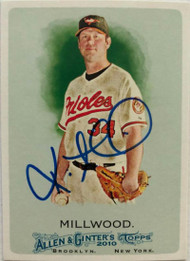 Kevin Millwood Autographed 2010 Topps Allen and Ginter's #237