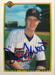 David West Autographed 1990 Bowman #413