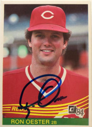 Ron Oester Autographed 1984 Donruss #62