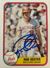 Ron Oester Autographed 1981 Fleer #218