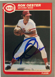 Ron Oester Autographed 1985 Fleer #542