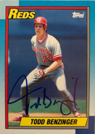 Todd Benzinger Autographed 1990 Topps #712
