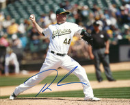 Ryan Madson Autographed A's 8 x 10 Photo 3