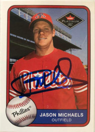 Jason Michaels Autographed 2001 Fleer Platinum #581