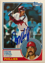 Ozzie Virgil Autographed 1983 Topps #383
