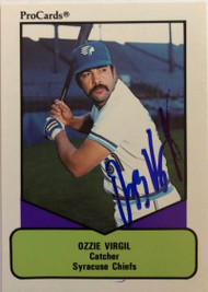 Ozzie Virgil Autographed 1990 Pro Cards AAA #355