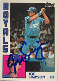 Joe Simpson Autographed 1984 Topps Tiffany #219