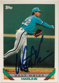 Walt Weiss Autographed 1993 Topps Traded #18T