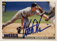 Walt Weiss Autographed 1995 Collectors Choice #443