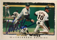 Walt Weiss Autographed 1995 Topps #110