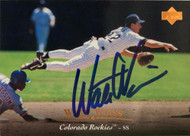 SOLD 6123 Walt Weiss Autographed 1995 Upper Deck #413