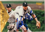 Walt Weiss Autographed 1996 Pinnacle #107