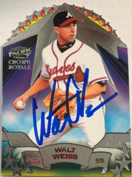 Walt Weiss Autographed 1998 Crown Royal All-Stars #14