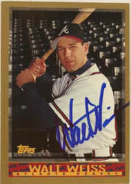 Walt Weiss Autographed 1998 Topps #456