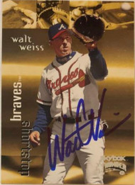 Walt Weiss Autographed 1999 Skybox Thunder #180