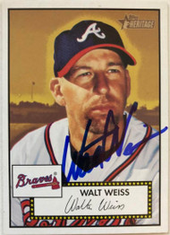 Walt Weiss Autographed 2001 Topps Heritage #47